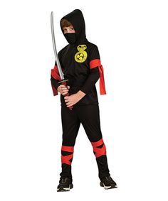 Another great find on #zulily! Rubie's Black & Red Ninja Dress-Up Set - Boys by Rubie's #zulilyfinds