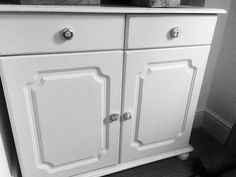 Up cycled shabby chic pine cupboard with vintage French enamel door ...