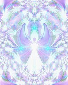 On the Wings of Angels - Crown Chakra Art Angel Wall Decor Reiki Healing by primalpainter, $20.00