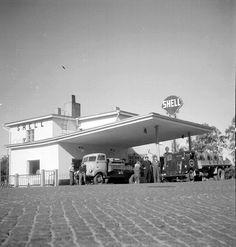 Karsillan vanha huoltoasema, Raatteentie,1950