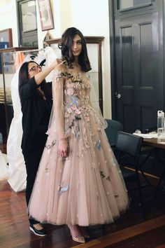 Backstage at Once Upon A Dream, Paolo Sebastian Couture Collection. Couture Dresses, Fashion Dresses, Pretty Dresses, Beautiful Dresses, Couture Fashion, Fashion Show, Fashion News, Fashion Art, Fairytale Gown