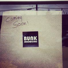 Bunk Sandwiches opening an Alberta Arts location soon!