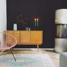 Herbstlich #solebich #einrichtung #interior #wohnzimmer #livingroom #vintage #wandfarbe #acapulco #rosa (Foto: Luise)