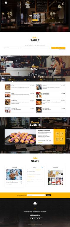 This Premium #WordPress Restaurant Theme also offer two options of reservation…