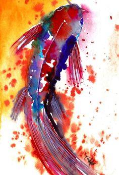 Fisch - Original von abstrakte bilder und mehr von maria-mercedes auf DaWanda.com