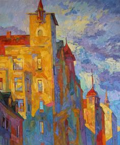 NOT THAT LONG AGO BY LARISA AUKON. Viewing buildings art gives you new exciting possibilities for home decor. Buildings art paintings will brighten office decor in ways you can not image. Explore the beauty of colorful imaginative architectural paintings. You will be amazed! SEE MORE BUILDINGS ART PAINTINGS NOW.... www.http://richard-neuman-artist.com/collections/90009
