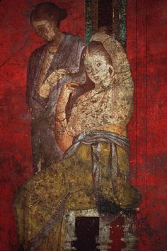 Fresco Pompeii, Italy  The Villa of Mysteries a must see. Is it pagan or Christian? You decide.