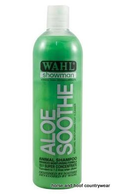 Wahl Aloe Soothe Shampoo Wahl Aloe Soothe Shampoo is based on natural ingredient and contains no harmful detergents or cleansers It rinses out easily.