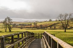 A beautiful short circular walk from Helton to Whale Lake District, Garden Bridge, Fields, Whale, Vineyard, Hiking, Outdoor Structures, River, Beautiful