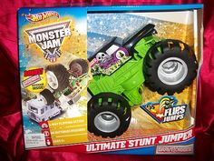 Hot Wheels Monster Jam Grave Digger Ultimate Stunt Jumper Vehicle | eBay