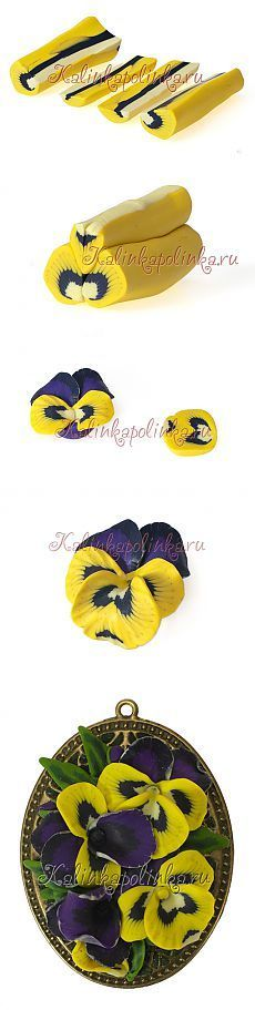 Pansies and violets from polymer clay. Discussion on LiveInternet - Russian Service Online Diaries