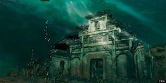 Photos of China's underwater city