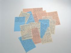 These are some of the loose sheets of paper on which Anne Frank re-wrote her diary. On 29 March 1944 the people in hiding in the secret annexe heard on the Dutch radio from London that a collection of diaries would be made after the war. The Dutch government, which was then in exile in London, wanted to know how life had been in the Netherlands during the wartime occupation.  Anne immediately thought of her diary, and decided to make a real book out of it. She began to re-write her old…