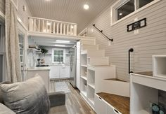 Double Storage Staircase - Kate by Tiny House Building Company