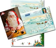 Santa Claus' letter from Lapland version Christmas 2019 Finland