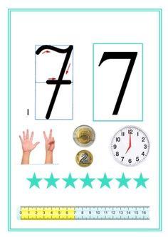 Monografia liczb Kindergarten Math, Teaching Math, Teaching Resources, School Frame, Diy Christmas Cards, Reality Check, Kids Learning, Worksheets, Homeschool