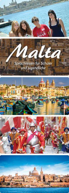 Sprachreisen für Schüler und Jugendliche nach Malta. #sprachreisen #malta #pankesprachreisen Malta, Lps, Language School, Student Dormitory, Tour Operator, English Language, Malt Beer
