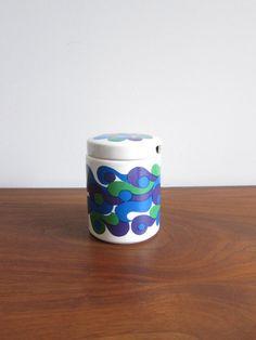 Arabia Finland Mimmi Jar 1960s Mod Pattern by Olin-Grönqvist