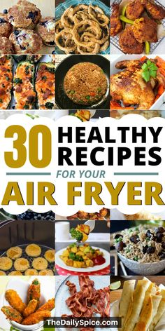 Healthy air fryer recipes and meals for the whole family. Healthy Air fryer meals that are easy and quick to make. Air Fryer Oven Recipes, Air Frier Recipes, Air Fryer Dinner Recipes, Air Fryer Cooking Times, Cooks Air Fryer, Actifry Recipes, Air Fried Food, Healthy Cooking, Healthy Meals