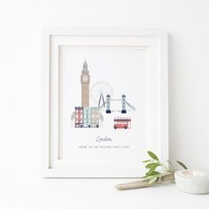 London City Print Personalised London Print London Print
