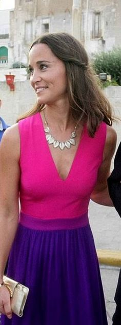 9/19/2014: Pippa Middleton & Nico Jackson attend a wedding at Carlo V Castle (Monopoli, Italy): in Tabitha Webb