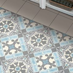 "Evaso 17.63"" x 17.63"" Ceramic Field Tile in Azul"