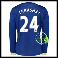 Fotballdrakter Everton Langermet TARASHAJ #24 Hjemmedraktsett 2016-2017 Everton, Graphic Sweatshirt, T Shirt, Premier League, Sweatshirts, Long Sleeve, Sleeves, Sweaters, Mens Tops