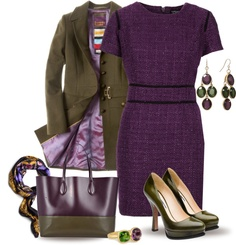 """Purple & Olive Green"" by yasminasdream on Polyvore"