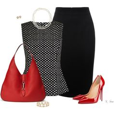 A fashion look from May 2016 featuring Diane Von Furstenberg tops, Alexander McQueen skirts и Christian Louboutin pumps. Browse and shop related looks. Classy Outfits, Chic Outfits, Spring Outfits, Fashion Outfits, Womens Fashion, Fashion Trends, Skirt Outfits, Office Fashion, Work Fashion