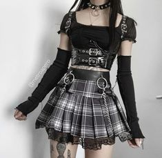 Gothic Outfits, Edgy Outfits, Teen Fashion Outfits, Grunge Outfits, Cute Casual Outfits, Pretty Outfits, Girl Outfits, Aesthetic Grunge Outfit, Aesthetic Clothes