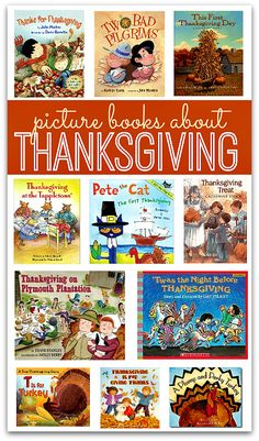 Picture Books About Thanksgiving.I hope one of these books about Thanksgiving strikes a chord with you and can be used to teach, entertain, and deepen a love of reading. All book lists contain affiliate links. Autumn Activities, Book Activities, Preschool Activities, Language Activities, Thanksgiving Books, Thanksgiving Preschool, Fall Books, Thanksgiving Pictures, Toddler Books