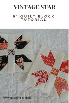 Summer Sampler: Vintage Star Quilt Block | A Quilting Life - a quilt blog