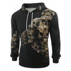 Free shipping 2018 3D Skulls Print Long Sleeve Hoodie in BLACK M with only $25.24 online and shop other cheap Hoodies on sale at DressLily.com. Skull Hoodie, Red Hoodie, Fleece Hoodie, Pullover, Hoody, Cheap Hoodies, Cool Hoodies, Cute Wolf Drawings, Aesthetic Hoodie