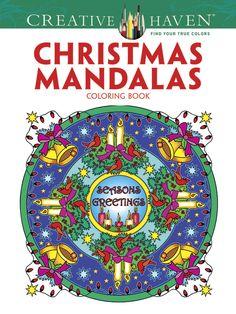 Christmas coloring mandala designs