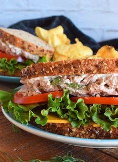Honey Garlic Baked Pork Bites - Lord Byron's Kitchen Big Sandwich, Sandwiches For Lunch, Salad Sandwich, Tuna Salad, Sandwich Recipes, Fruit Salad, Baked Pork, Baked Chicken, Gochujang Chicken