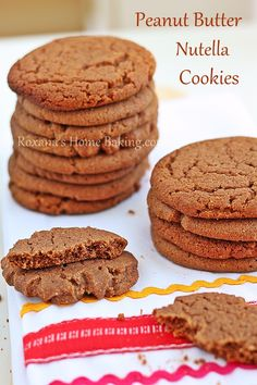 Peanut Butter Nutella Cookies, plus so many other recipes for delicious looking cookies on this link too