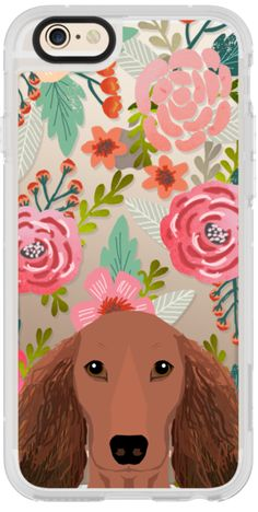 Casetify iPhone 6s New Standard Case - dachshund florals cute spring summer cell phone cases for doxie owner by Pet Friendly #Casetify
