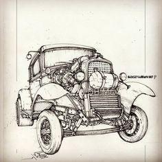 696 отметок «Нравится», 17 комментариев — Алексей Любимов ART (@lubimovaleksey_art) в Instagram: «Rat rod. #lubimov #lubimovart  #alekseylubimov_art #biomechanicals #lubimovaleksey #artist #artwork…»