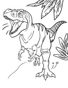 Printable Tyrannosaurus Rex Coloring Page Free PDF Download At Coloringcafe