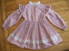 Vintage Girls Toddler Floral pleated flutter long by LittleMarin, $18.75