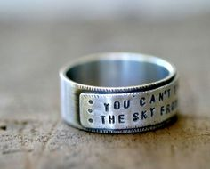 Sterling Silver Personalized Mens Ring Band