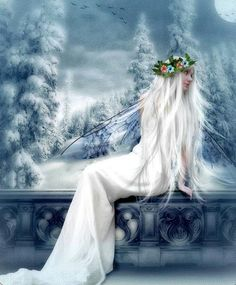 ❄A MidWinter's Night's Dream❄... Winter Fae... By Artist Barbara Neal...