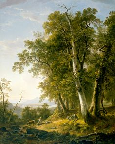 Title: Forenoon Artist: Asher Brown Durand Region: USA Period: 1847 Material: oil on canvas Dimensions: 73 x 5 in. On view in the museum Landscape Art, Landscape Paintings, Environment Painting, New Orleans Museums, Watercolor Trees, Art Museum, Scenery, Fine Art, Sculpture