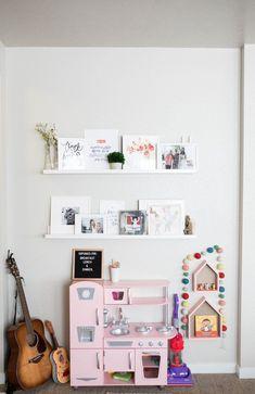 Simple cute play area in living room