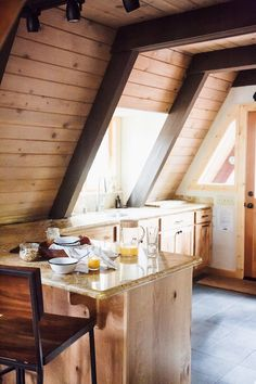 Lake Tahoe-A frame cabin kitchen