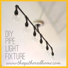 The Gathered Home: Plumbing Pipe Light Fixture