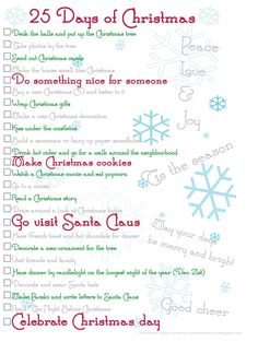 2018 25 days of Christmas Days Till Christmas, Christmas Games, Christmas Activities, Christmas Countdown, Little Christmas, Christmas 2017, Christmas Printables, Family Christmas, Winter Christmas