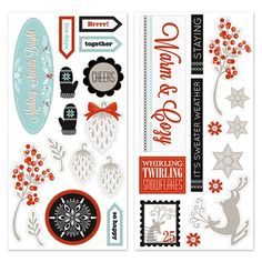 """Close To My Heart - Snowhaven Complements. 2 – 12"""" × 6"""" Coordinating Chipboard Sheets $5.50"""
