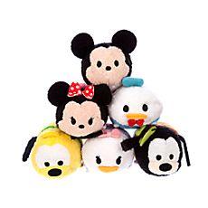 Collection de mini peluches Tsum Tsum Mickey Mouse et ses amis
