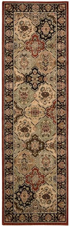"""Kathy Ireland Home Lumiere Persian Tapestry Multicolor 2'3"""" x 7'9"""" Runner Rug"""
